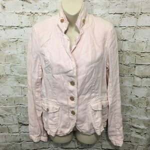 J Crew Light Pink Linen Casual Jacket